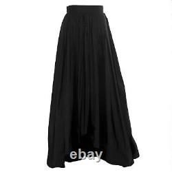 MAX MARA Women's Cele Black Pleated Hi-Lo Maxi Skirt Sz 2 $1,515 NWT