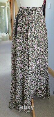ME+EM Brush Strokes Floral Print Skirt Pink/Khaki 10 BNWtags