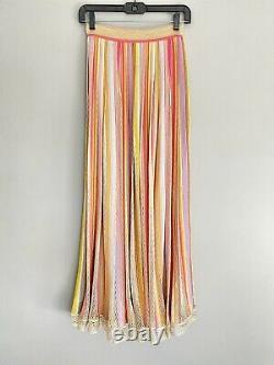 MISSONI Metallic Knit Pleated High Waist Maxi Skirt IT 40 US S Pre-Owned Frankel