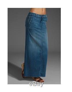 MOTHER DRAMA MAXI Long Denim Skirt $220 Getaway Girl Net-a-porter 24 70's Trend