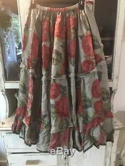 Magnolia Pearl PISSARRO Roses Floral Flamenco Boho Midi Maxi Circle Skirt NWT