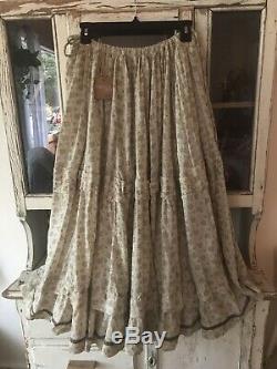 Magnolia Pearl Pissarro Midi Maxi Boho Prairie Circle Skirt Brushwood O/S