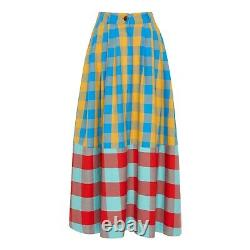 Mara Hoffman Tulay Skirt in Plaid Size 2 New Without Tags