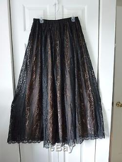Michael Kors Collection Paisley Lace Pleated Maxi Skirt Size10 $3495 NWT