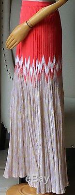 Missoni Coral Cashmere Blend Maxi Skirt It 38 Uk 6
