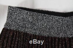 Missoni Nwt- Multicolor Metallic Lurex Pleated Knit Maxi-skirt (o-m-g-!) 40/4