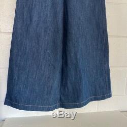 Miu Miu Womens Maxi Jean Skirt Blue Denim Side Slit A-Line Long Cotton Italy 4
