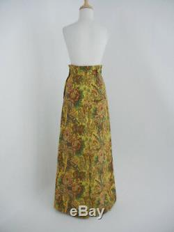 Miu Miu by Prada (It38/XS) F'2016 Gold Bird/Floral Tapestry Maxi Long Skirt Gown