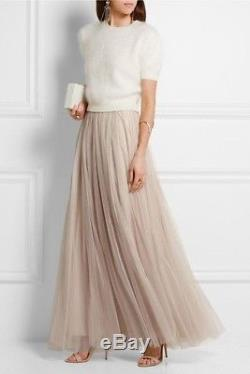 NEEDLE & THREAD Tulle Maxi Skirt, Pink, US 8, UK 12, IT 44. New with tags