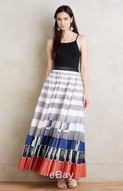 NEW Anthropologie Geisha Sundra Maxi Skirt Size 16
