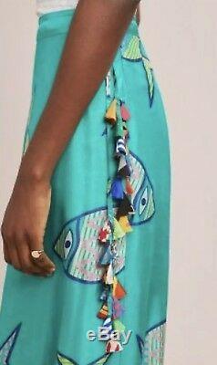 NEW Anthropologie Summer School Silk Maxi Skirt Size Medium Anupamaa