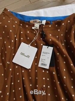 NEW DVF Diane von Furstenberg 100% Silk Maxi Skirt 6