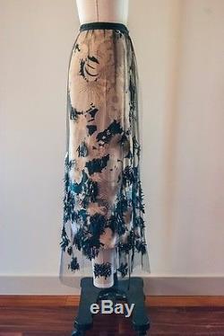 NEW Dries Van Noten Tulle Beaded Skirt ss2017 Runway Look