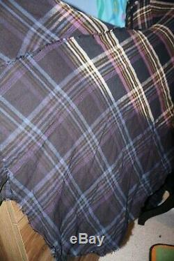 NEW Free People DRIPPED IN DREAMS Dip-Dyed Plaid Maxi Skirt Size 8 Medium! Rare