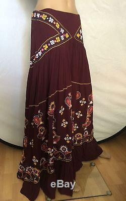NEW Free People Floral Embroidered Maxi Skirt Size 6