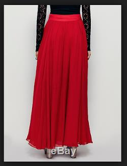 NEW Free People Red Hearts Delight Maxi Skirt Multi Layered Long Sz 12 $298
