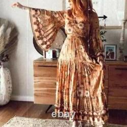 NEW SPELL & THE GYPSY COLLECTIVE Sz XS BUTTERCUP LONG SLEEVE GOWN