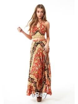 NEW Spell And The Gypsy Lolita Side Slit Maxi Skirt Size Medium