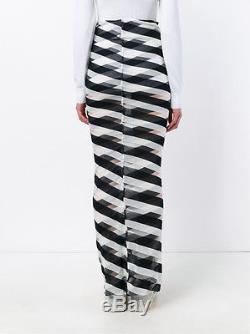 NEW Stella McCartney SS16 2016 Women's Checkered Long Striped Skirt 38