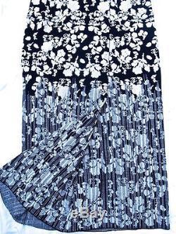 New Tags Chanel 14c Resort 14p Black Ecru Camellia Logo Maxi Wrap Skirt -40