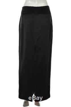 NEW The Row Skirt Size 4 Black Solid Maxi Long Silk Career Formal NWT