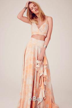 NEW With TAGS NWT FREE PEOPLE GARDENIA MAXI SKIRT CROP TOP SET SZ 6 SMALL SOLD OUT