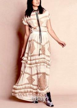 NIP For Love and Lemons Ivory Ruffle & Lace Top & Maxi Skirt Set Size XS/S RARE