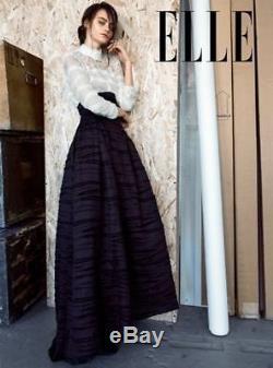 NOS H&M Conscious Exclusive Collection Skirt Silk Linen Long Maxi 12US L Evening