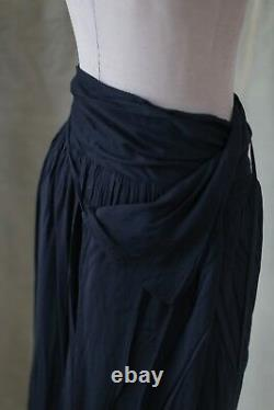 NWOT A. F. Vandevorst maxi wrap tie skirt in Midnight Blue size Small orig $1,205