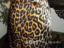 NWOT, Roberto Cavalli Silk Leopard Print, Maxi Skirt/ Dress Size 40