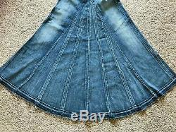 NWOT Seven For All Mankind 7 Size 26 Distressed Denim MAXI LONG S Anthropologie