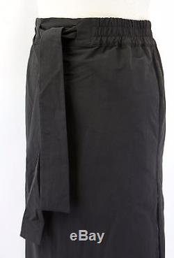 NWT$1275 Brunello Cucinelli Gusseted Organza Cotton Sides Maxi Tie Skirt 42/6US