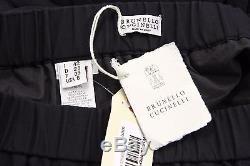 NWT $1495 Brunello Cucinelli 100% Silk Organza Pleated Full Maxi Skirt Sz 42/6US
