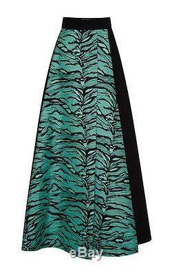 NWT $2005 Faustus Puglisi A-line Maxi skirt black/turquoise