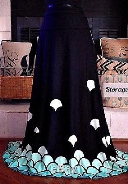 8020886be1 NWT 2XL Lularoe Maxi Mermaid Dipped Ombre Scales Black Blue Shells Skirt  Dress