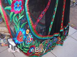 NWT$450BEAUTYRAREWestern Mexican Huipil Embroidered SkirtVintage Collection
