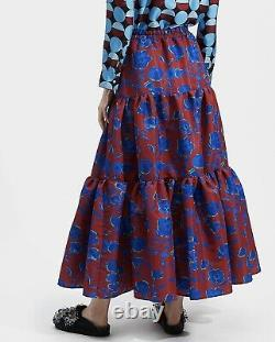 NWT $550 La Double J Edition 22 Maxi Skirt Sleevless Dress Devon Bordeaux M