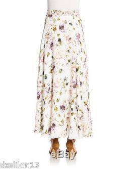 NWT $575 Haute Hippie Silk Floral Print Maxi Skirt Size M