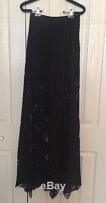 Nwt $595 Alexis Intermix Neiman Marcus Lucrezia Black Lace Maxi Skirt Xs