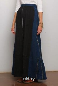 NWT ACE & JIG Avignon Skirt SZ M Striped Midnight Maxi