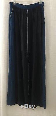 NWT ACE & JIG Avignon Skirt SZ M Striped Midnight Maxi