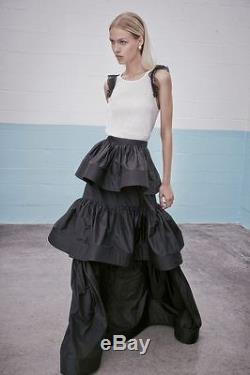 NWT Alexis Black Kian Pleated Tiered Ball Skirt size XS $880