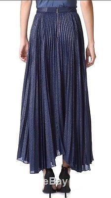 NWT Alice + Olivia Katz Sunburst Pleated Maxi Skirt Size 2 Retail $495
