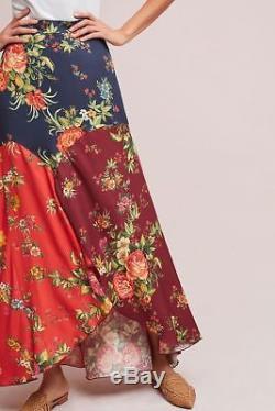 NWT Anthropologie Farm Rio Patchwork Maxi Floral Print Skirt Sz. Large