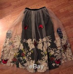 NWT Anthropologie Hidden Forest Maxi Skirt By Varun Bahl Size XS Rare