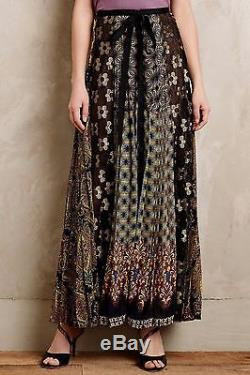 NWT Anthropologie Petal Patch Maxi Skirt by Beguile Byron Lars Stunning 12P RARE
