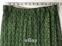 NWT Authentic MISSONI Green Emerald Long maxi skirt SIZE 44 EU Italy