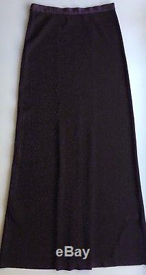 NWT Authentic MISSONI Lurex Purple Long maxi skirt SIZE 42 EU / M Italy