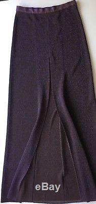 NWT Authentic MISSONI Lurex Purple Long maxi skirt SIZE 42 EU / M Italy