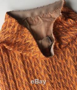 NWT Authentic MISSONI Orange Long maxi skirt SIZE 40 EU Italy